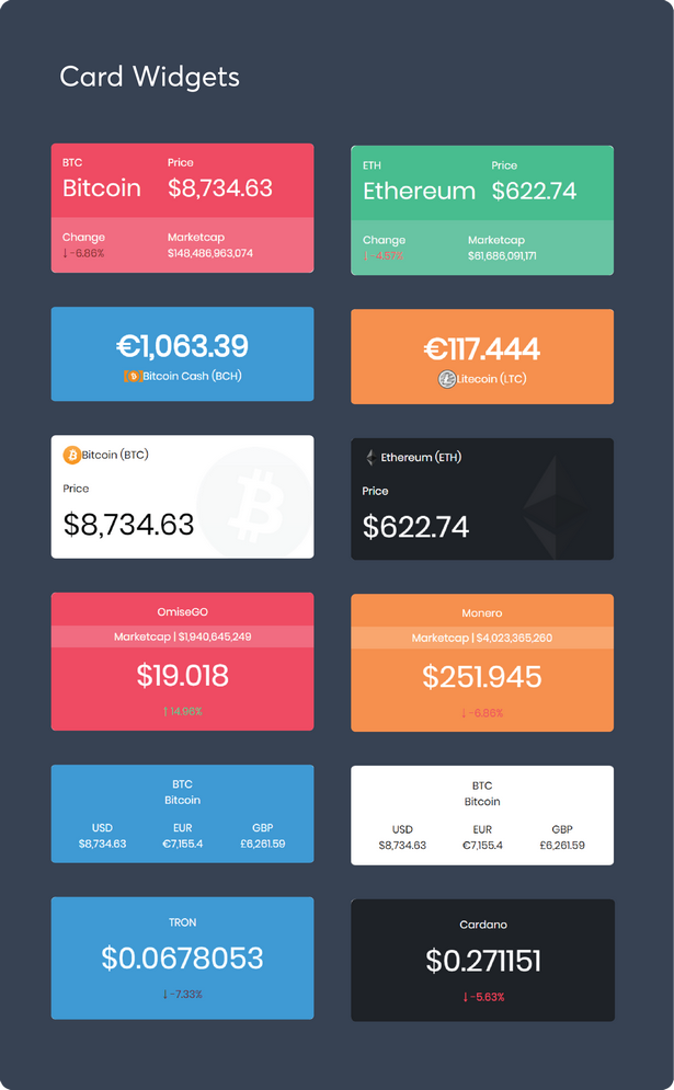 Massive Cryptocurrency Widgets - PHP/HTML Edition - 6